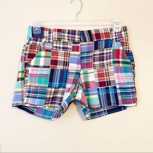 J. Crew Madras Plaid Patchwork City Fit Shorts - 2
